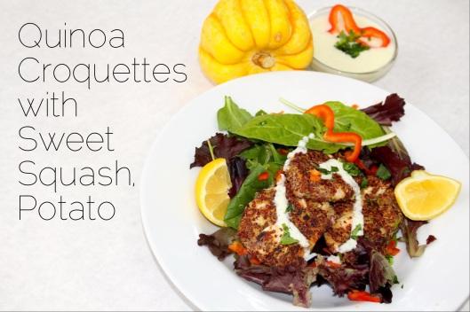 quinoa croquettes with sweet squash potato