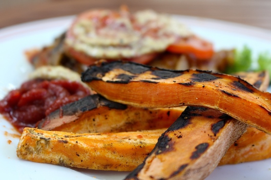 Used the grill Sunday night for sweet potato fries. YUM!!