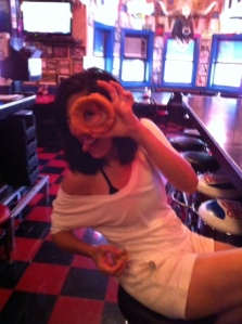 They have super huge yummy onion rings, almost as big as your head :)