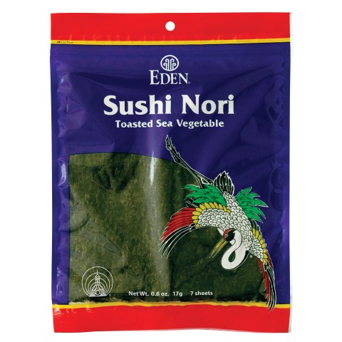 I just bought these Sushi Nori sheets today -- the first step in makin nori rolls.