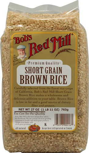 You don't need the white sticky rice for rolls. The short grain brown rice will take on a sticky consistency. You just need to soak the dry grain for seven hours and then boil like you normally would.