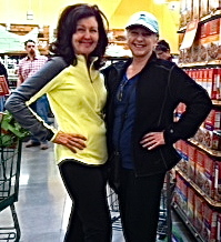 My mom (right) and our good friend Maggie -- at opening week of the Whole Foods (Domain, North).