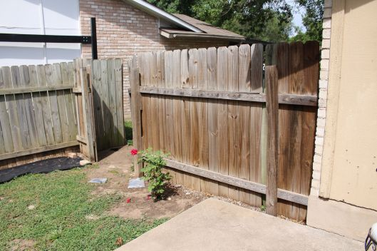 Ye ole FENCE ... this thing had seen better days...