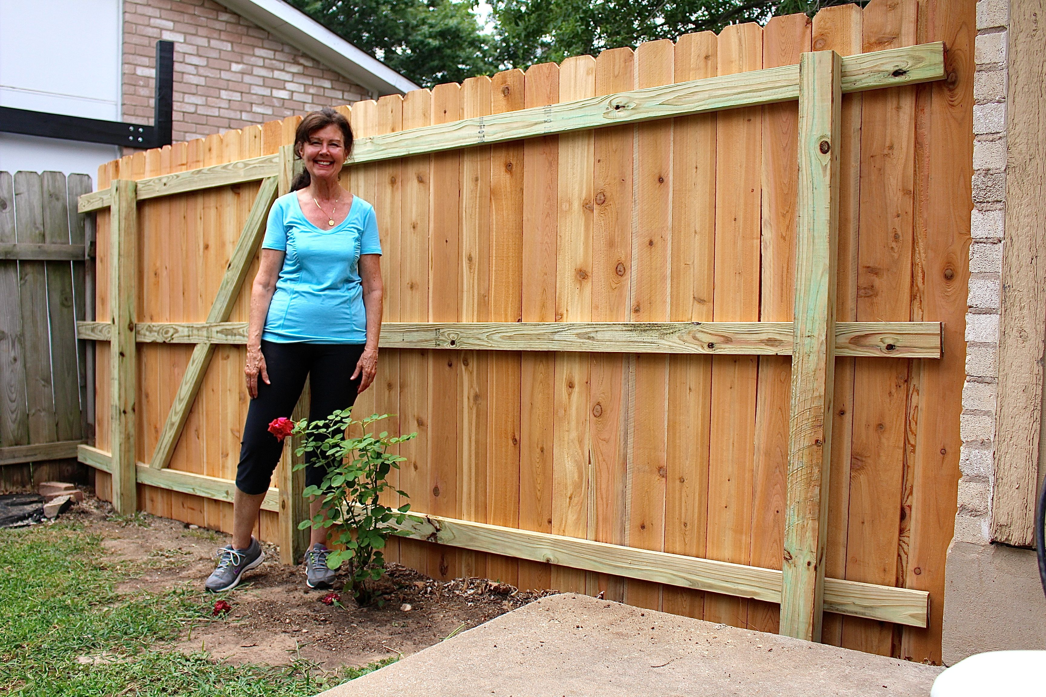 building small fence cedar planks austin texas yard and