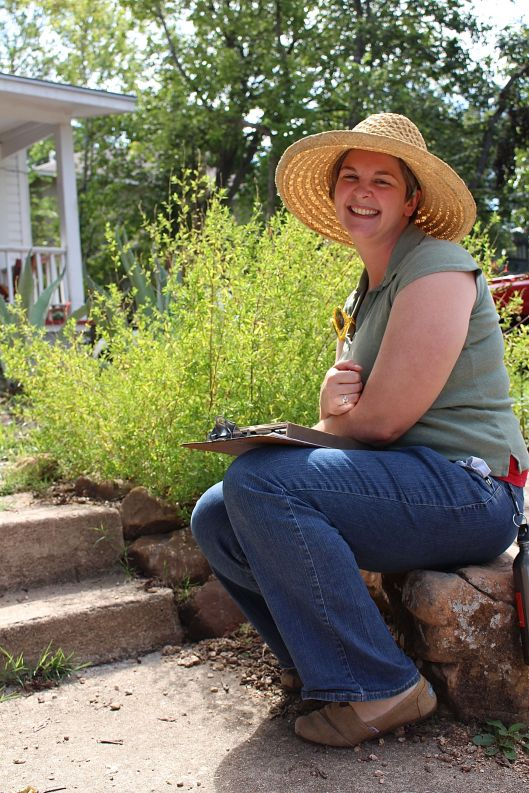 The beautiful and highly talented Colleen Dieter, owner of Red Wheelbarrow, an Austin-based landscape and garden consultancy.