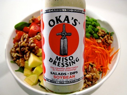 Take a tablespoon of Oka's dressing and add squeeze of lemon and salsa and you'll have good coverage :)