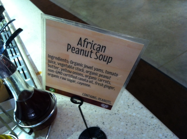 African Peanut Soup at Wheatsville Co-op