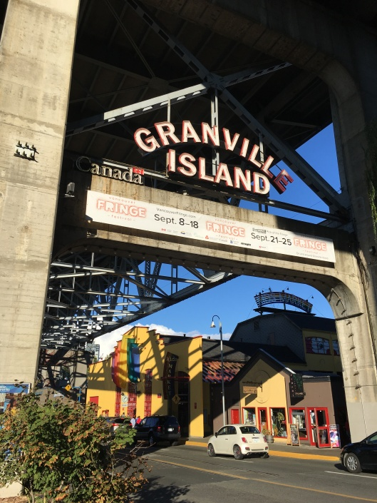 Entrance to Granville Island and the gateway to the 'public market.'