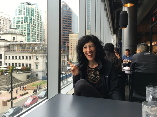 We were so happy to get this 'killer view' at a table inside the Nordstrom restaurant (downtown Vancouver).