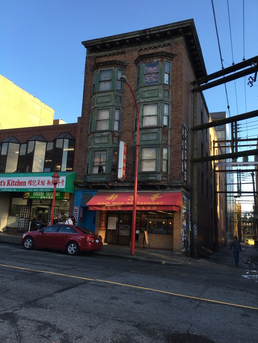 Cool old building in China Town.