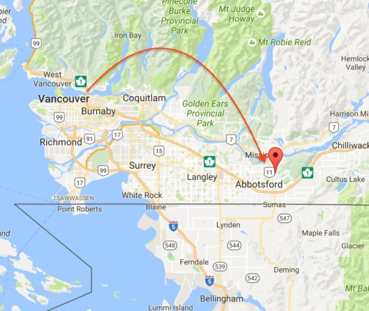 So about a week ago I landed in Vancouver -- and just yesterday left for three weeks at the B&B here in Clayburn Village (right outside Abbotsford, B.C.)