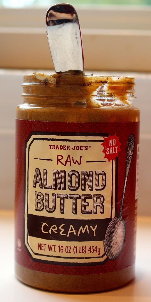 Any nut butter will do, but I found this TJs raw almond butter has the right amount of oil to yield the consistency for the 'cookie dough.'